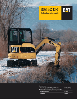 Hydraulické minirýpadlo Caterpillar® 303.5C CR