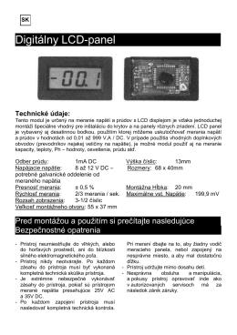 Digitálny LCD-panel