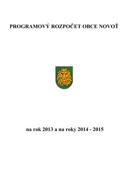 Návrh rozpočtu na roky 2013, 2014, 2015