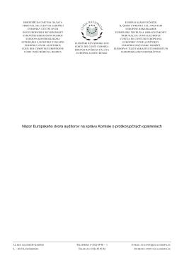 Názor Európskeho dvora audítorov na správu Komisie o