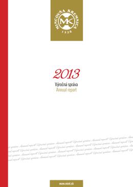rok 2013 (PDF) - Mincovňa Kremnica