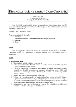 Zápisnica Farskej rady z 8.11.2011