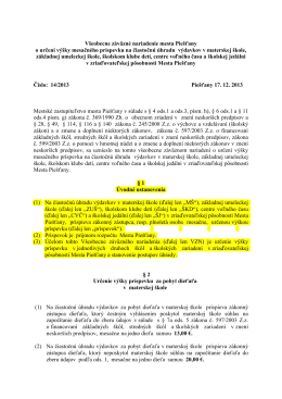 ZUŠ školné od 1.1.2014 - VZN