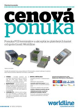 Ponuka POS terminálov a akceptácie platobných kariet od