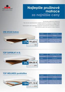 Najlepšie pružinové matrace za najnižšie ceny UNI
