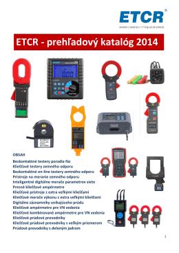 Katalog ETCR - MERTEC, sro