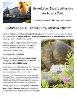 Kamenné gule - Kysucké tajomstvo prírody