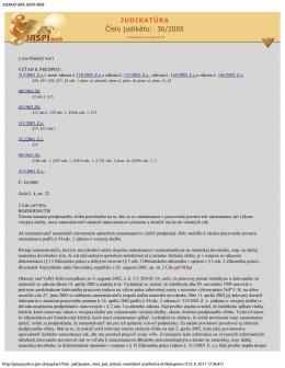 JUDIKATURA JASPI-WEB