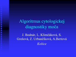 Algoritmus cytologickej diagnostiky moča - HIS-DG