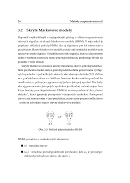 3.2 Skryte´ Markovove modely