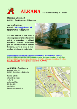 Batkova ulica č. 2 841 01 Bratislava