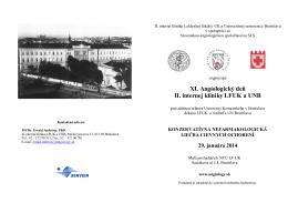 XI. Angiologický deň II. internej kliniky LFUK a UNB