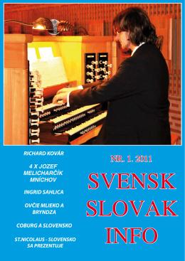 NR. 1. 2011 - Švédsko Slovenský spolok