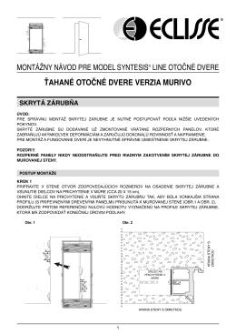 montážny návod pre model syntesis® line otočné dvere