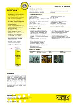 Xintex: Xintronic II Aerosol [web]