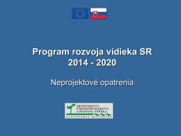 Program rozvoja vidieka SR 2014