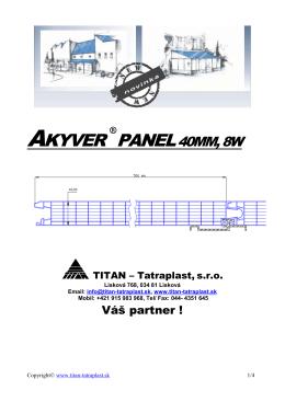Akyver panel 40mm, 8W montážny návod - Titan