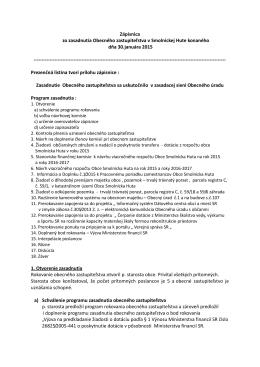 Zápisnica OZ -30.01.2015