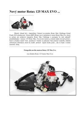 Nový motor Rotax 125 MAX EVO