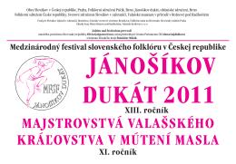 Plakát MFSF Jánošíkov dukát 2011