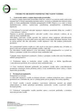 Všeobecné obchodné podmineky autopožičovne (formát PDF)