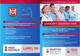 Pozvánka a program na Levočský lekársky deň