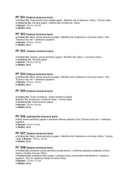na stiahnutie v pdf - PFka 2015 podrobný popis