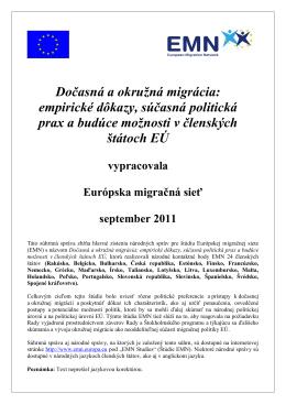 Dočasná a okružná migrácia: empirické dôkazy, súčasná