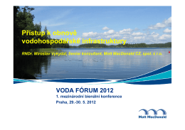 Přístup k obnově vodohospodářské infrastruktury