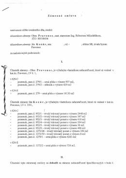 Zámenná zmluva - Ján Kozár