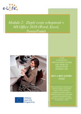 Module 2: Zlepši svoje schopnosti v MS Office 2010 (Word