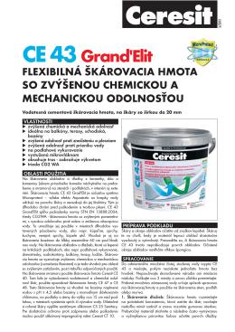 CE 43 Grand`Elit_Technicky list