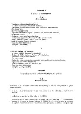 Dodatok č. 6 k zmluve 47KVYF000211