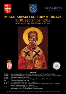 plagat - Spolok Srbov na Slovensku Spolok Srbov na Slovensku