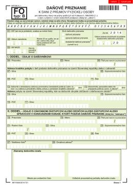 Daňové priznanie fyzických osôb TYP B