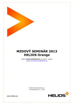 Prehľad legislatívnych zmien platných od 1. 1. 2013