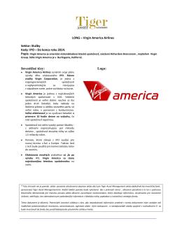 Virgin America Airlines - Tiger Asset Management
