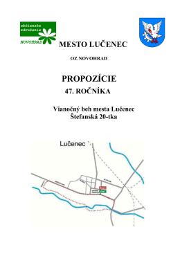 PROPOZÍCIE - Mesto Lučenec