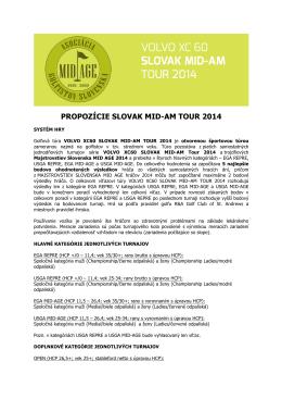 PROPOZÍCIE SLOVAK MID-AM TOUR 2014
