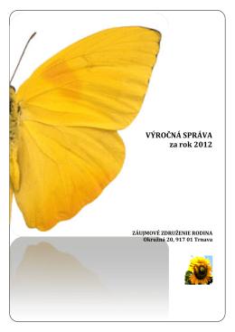 Výročná správa za rok: 2012