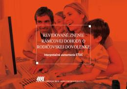 Revidované znenie Rámcovej dohody o rodičovskej