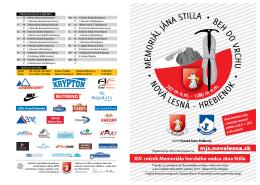 Propozície Memoriálu Jána Stilla 2013 - Memoriál Jána Stilla