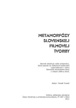 Zborník Metamorfózy slovenskej filmovej tvorby (PDF)