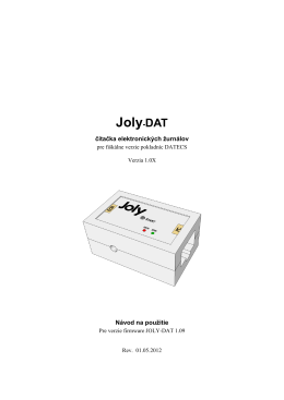 Návod na použitie Joly-Datecs
