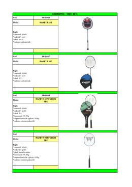 Pozrite si našu ponuku badmintonu