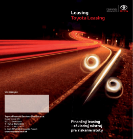 Leasing Toyota Leasing - Toyota Financial Services