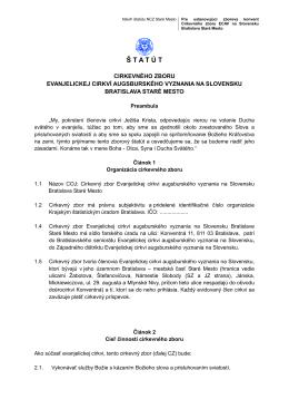 Š T A T Ú T - ECAV Bratislava