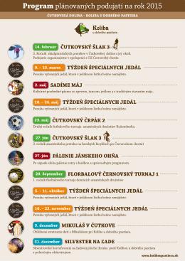 Program plánovaných podujatí na rok 2015