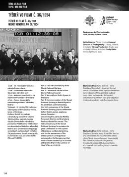 Weekly Newsreel No. 36/1954 * Týždeň vo filme č