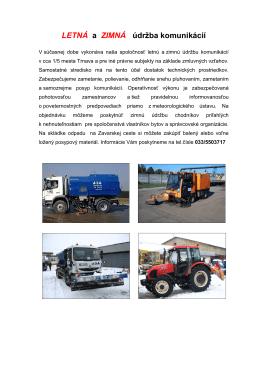 letná a zimná údržba komunikácií (pdf)